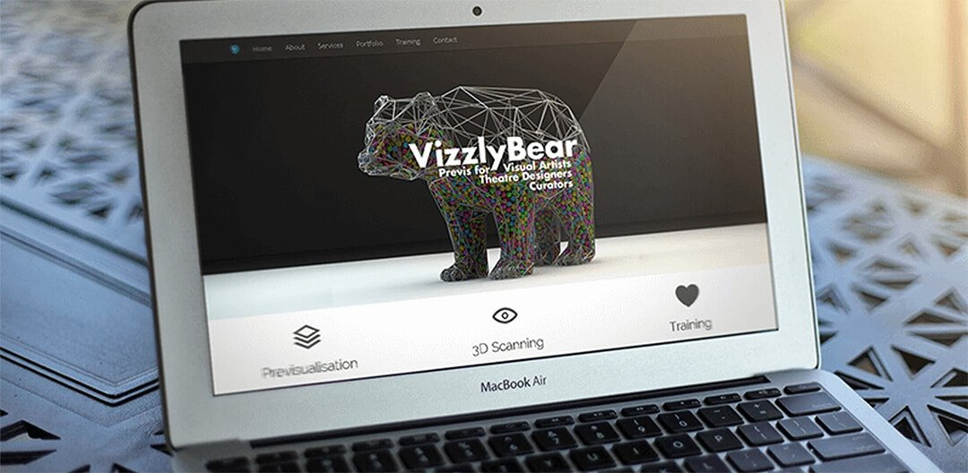 Web Design for Vizzly Bear, Ireland